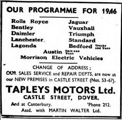 Walter Ltd history of dover garages